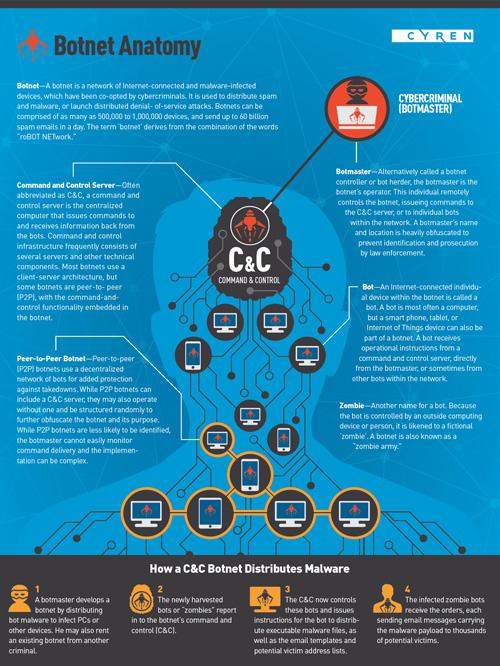 Cyren Q3 botnet Anatomy Infographic