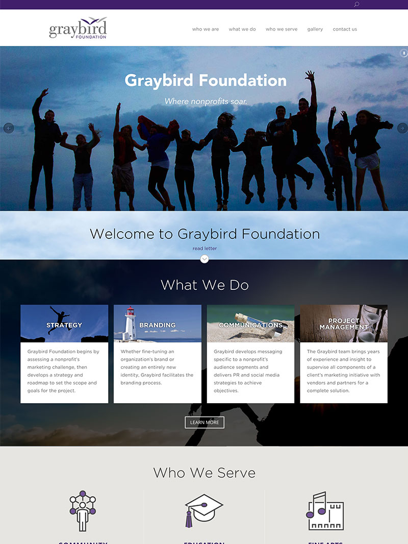 Graybird Foundation Nonprofit Website