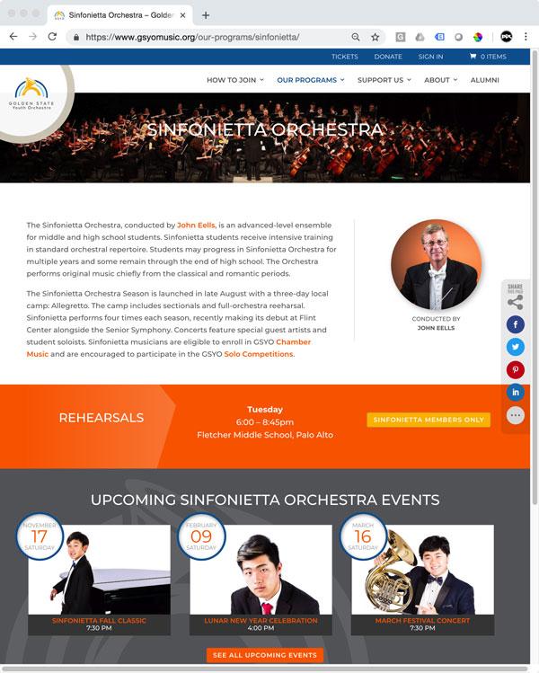 GSYO Ensemble Page