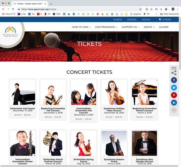 GSYO Tickets Page